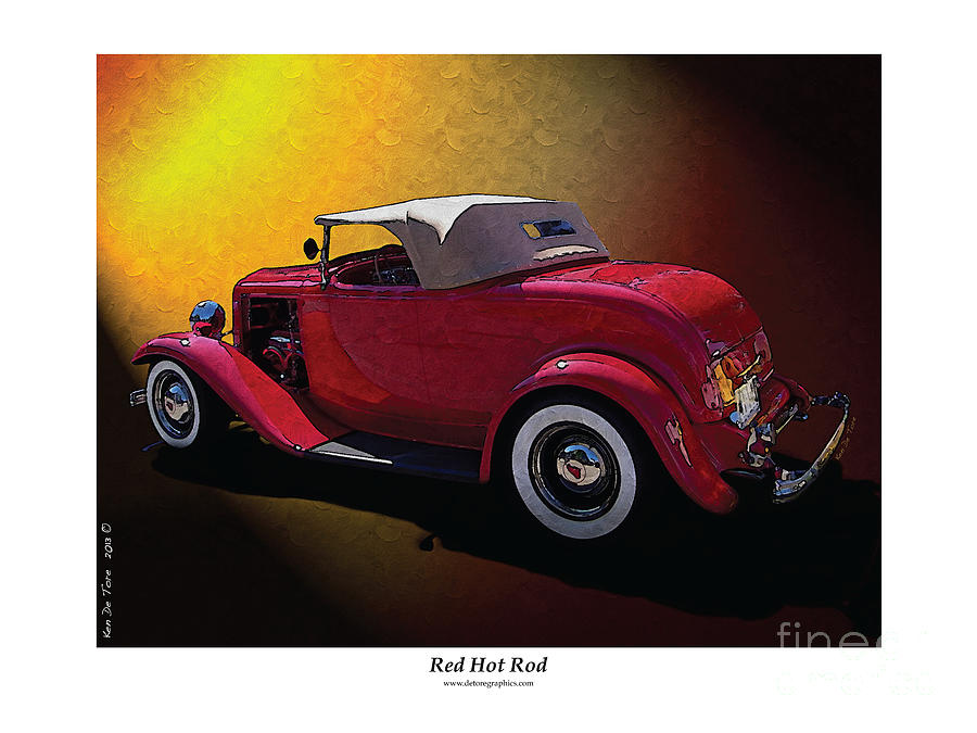 Red Photograph - Red Hot Rod by Kenneth De Tore