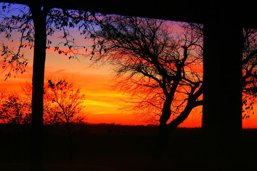 Landscape Photograph - Red Hot Sunset by Julie Lueders