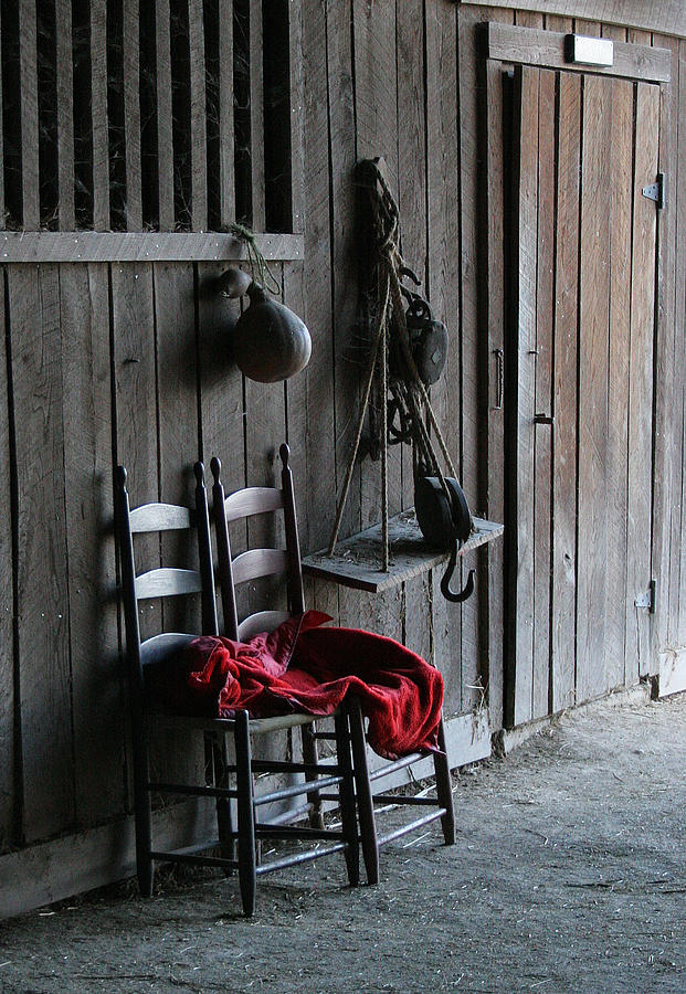 Shakertown Photograph - Red In The Barn by Angie Bechanan