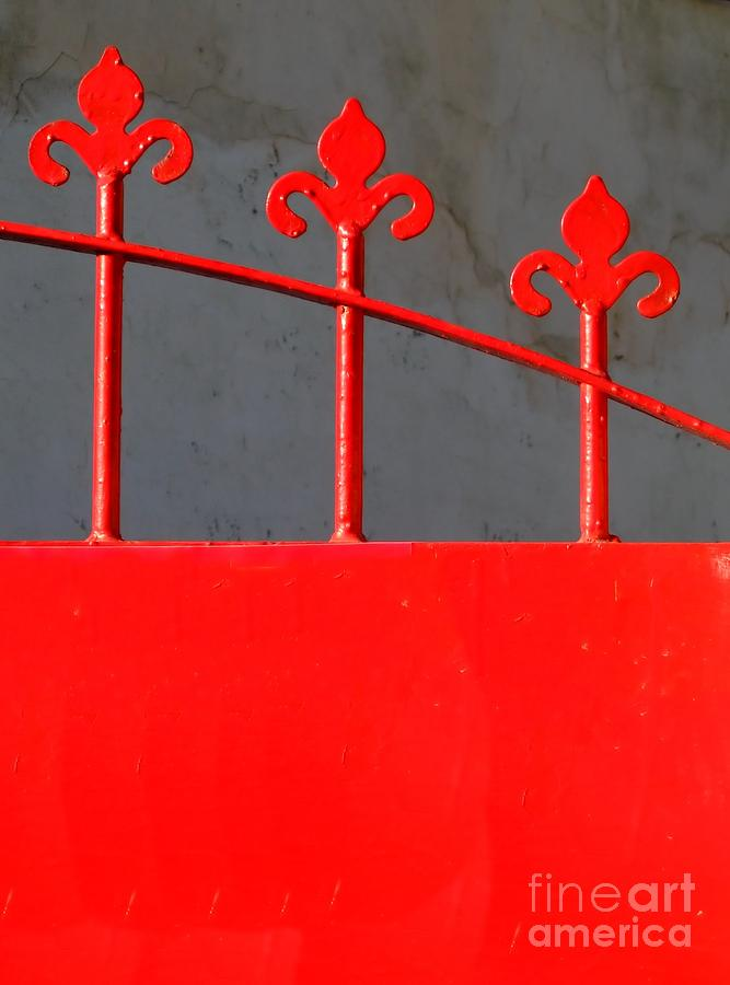 Red Photograph - Red Iron Gate by Yali Shi