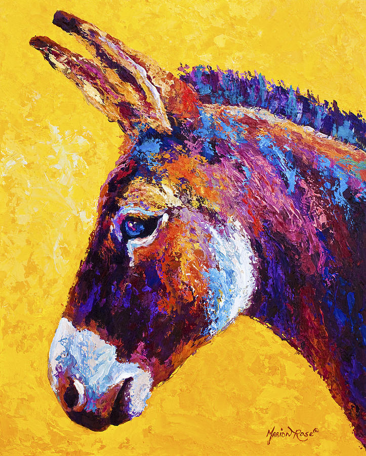 Burro Painting - Red Jenny by Marion Rose
