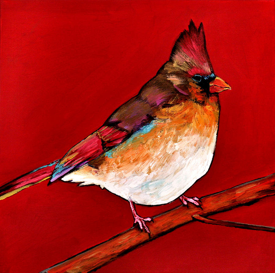 Wildlife Painting - Red Lady by Johnathan Harris