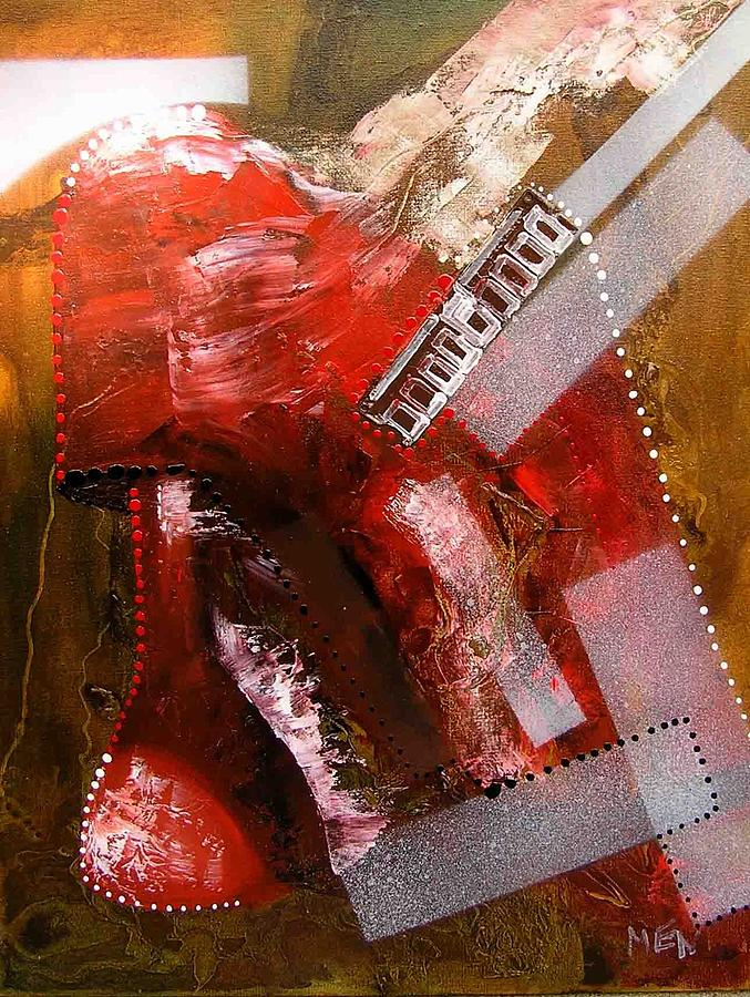 Lamp Painting - Red Lamp Transformation by Evguenia Men