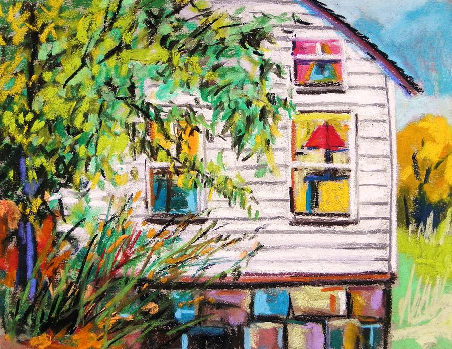 House Painting - Red Lampshade by John Williams