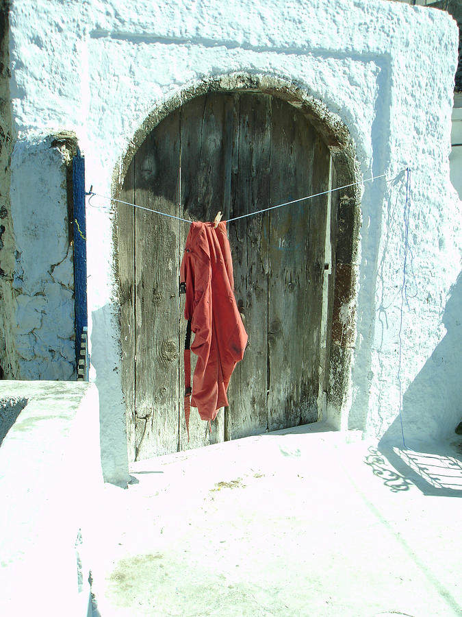 Red Photograph - Red Laundry by Jennifer Kelly