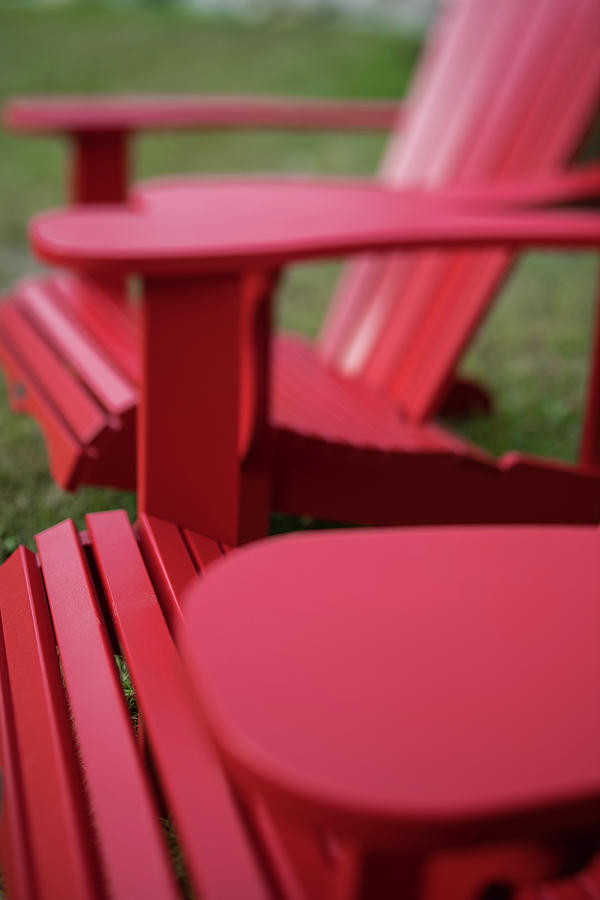 Red Lawn Chair Number 2 Photograph