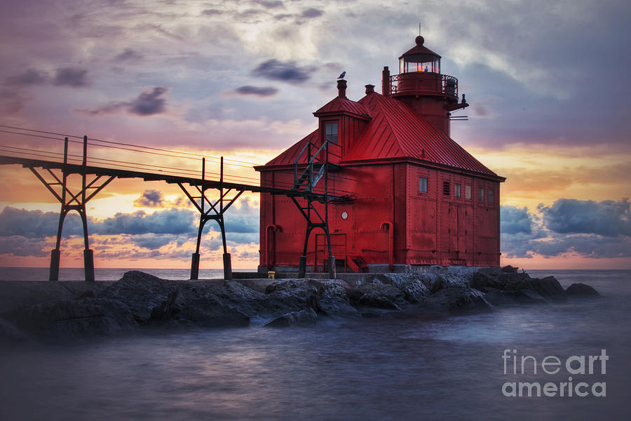 Red Light Sunrise in Door County by Ever-Curious Geek
