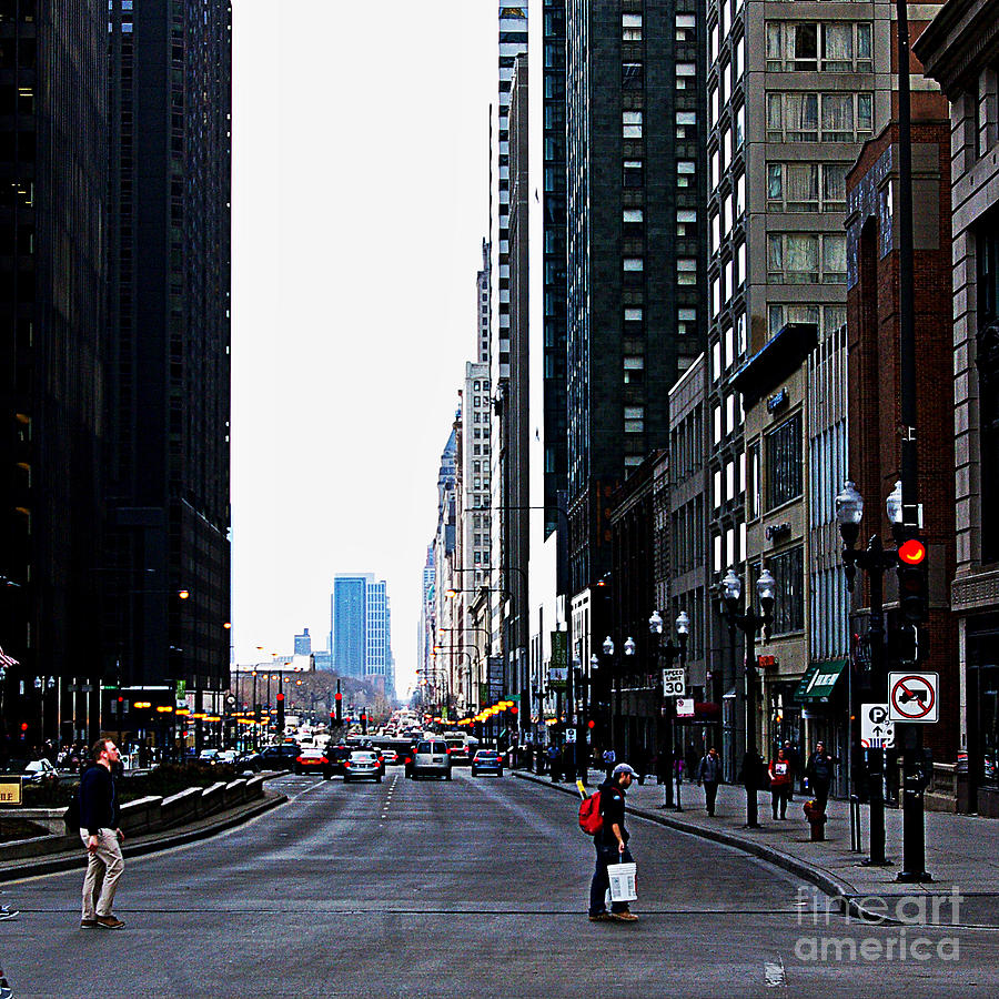Red Lights - City Of Chicago Photograph