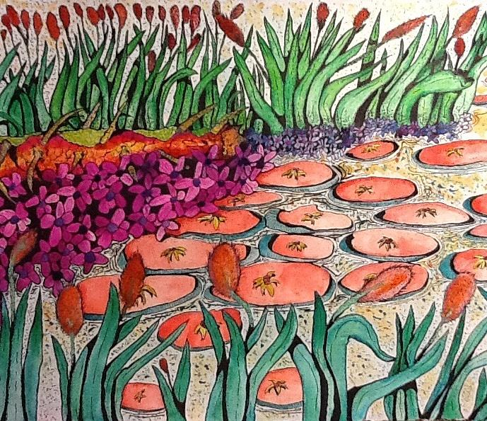 Lilies Painting - Red Lillies 2 by Robert Hilger