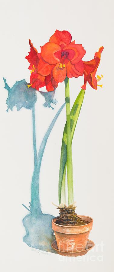 Flower Painting - Red Lion by Sandra Neumann Wilderman