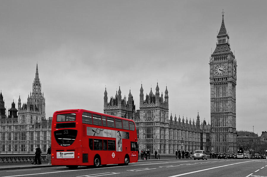 Red bus photograph red london bus by alice gosling
