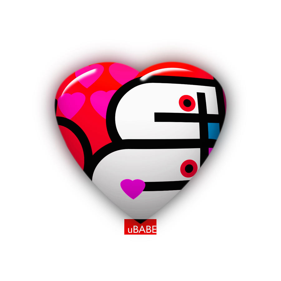 Love Heart Painting - Red Love Heart by Charles Stuart