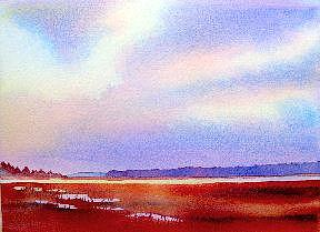 Sky Painting - Red Marsh by Gail Ribas