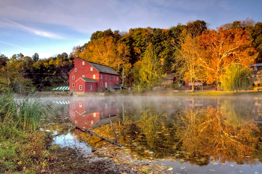 Red Mill In Clinton New Jersey Series Photograph