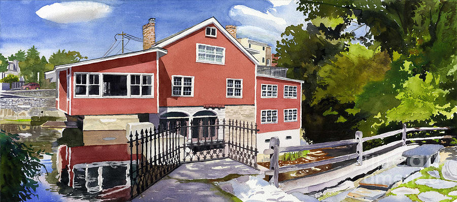 Manchester Painting - Red Mill Manchester Vt by Hollis Machala