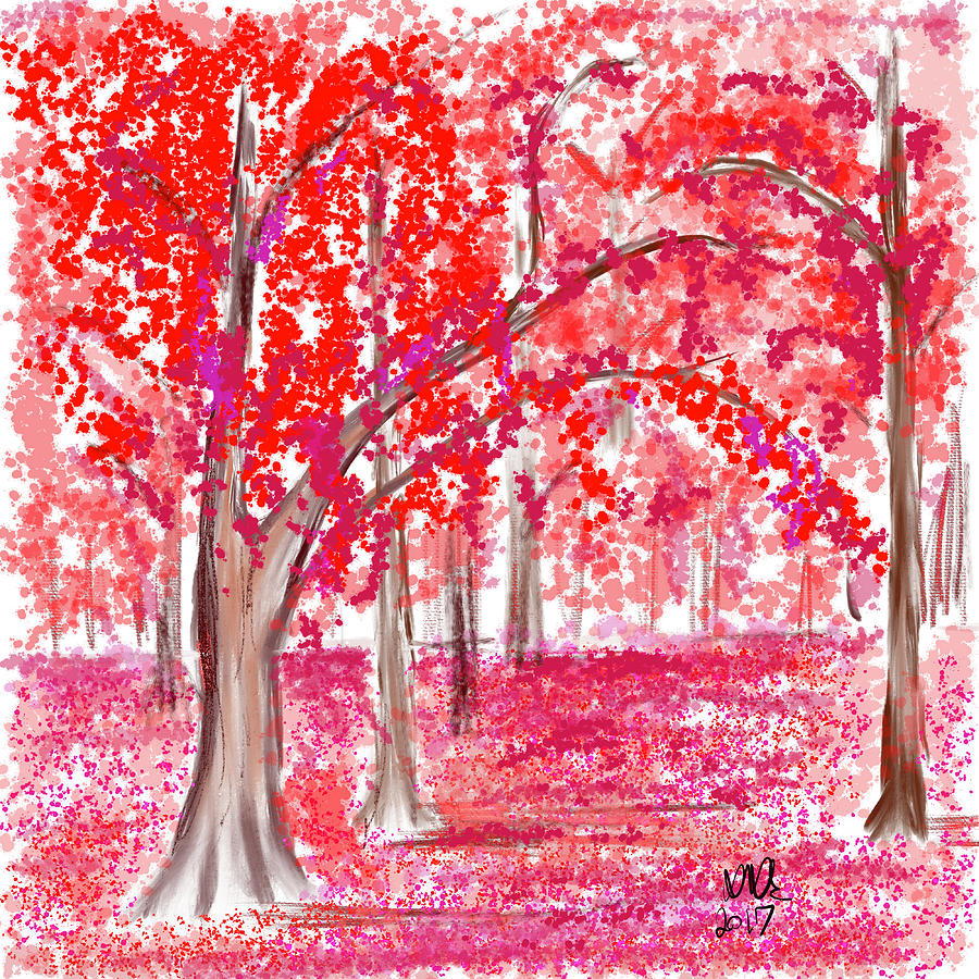 Ipad Painting Painting - Red Mood by Angela Stanton