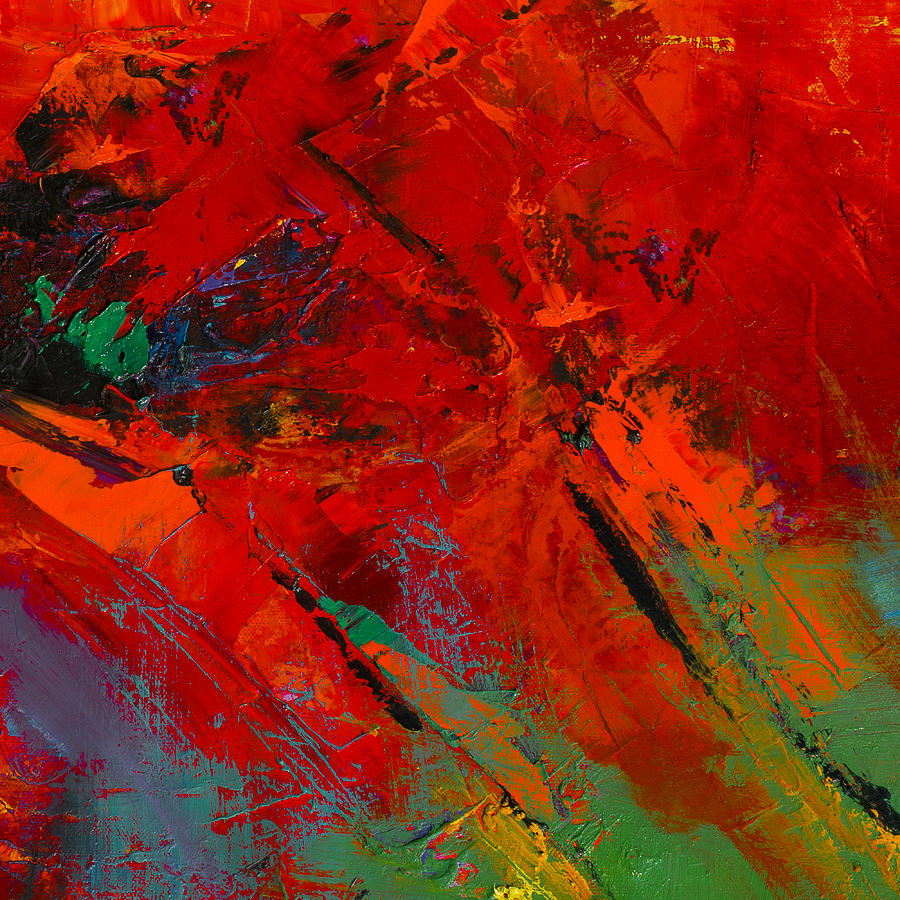 Red Abstract Painting - Red Mood by Elise Palmigiani