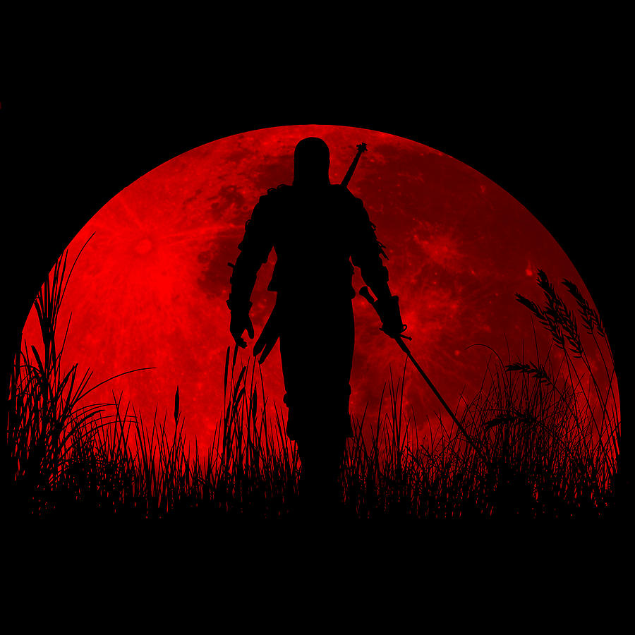 Red Moon Digital Art By Danilo Caro