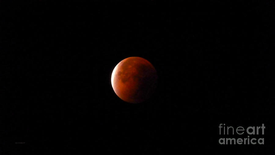 Red Moon Photograph - Red Moon Eclipse by Jason Christopher