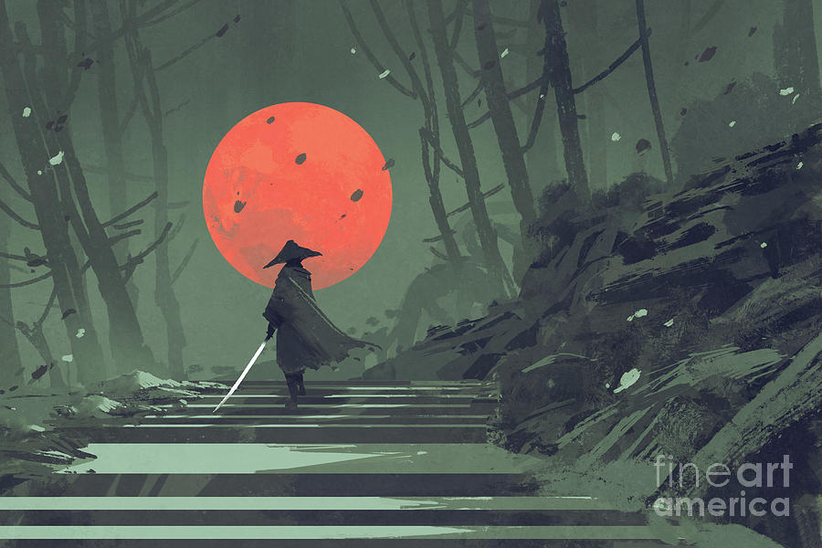 red moon night by Tithi Luadthong