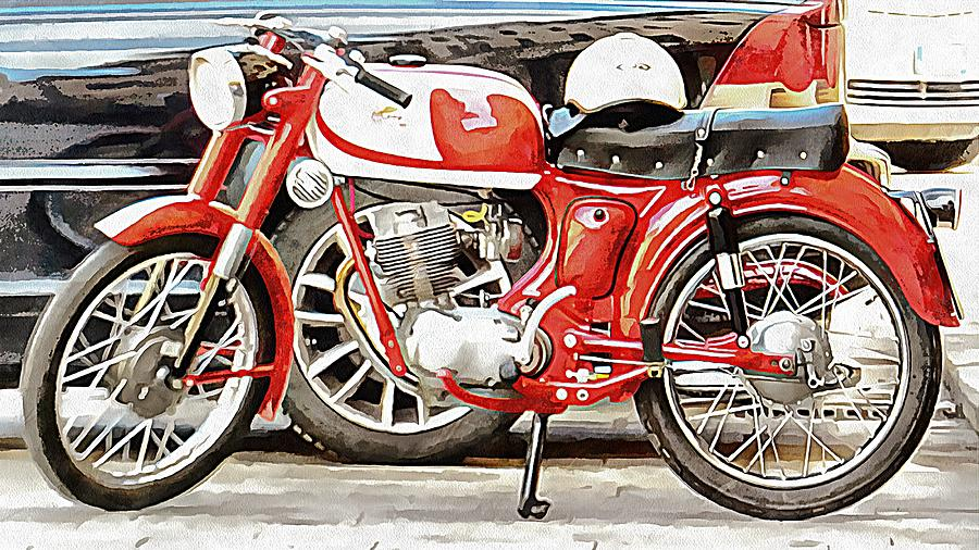 Red Moto Morini Corsaro 125 by Dorothy Berry-Lound