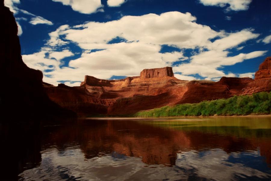 Digital Painting - Red Mountain by Lori DeBruijn