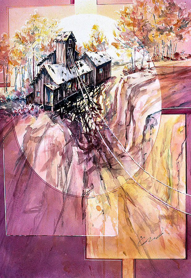 Red Mountain Painting - Red Mountain Mine by Connie Williams