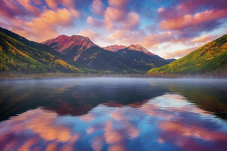 Red Mountain Reflection Photograph
