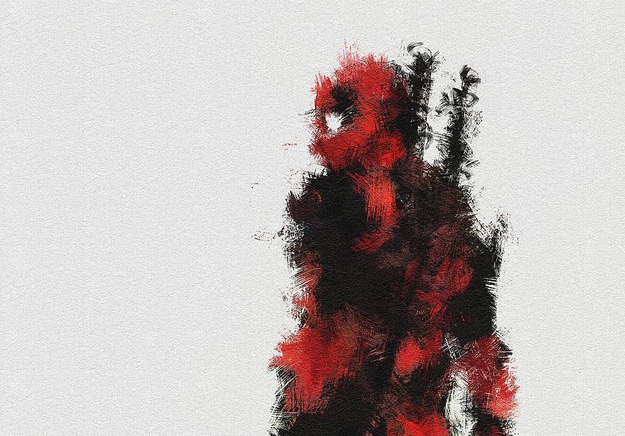 Deadpool Painting - Red Ninja by Miranda Sether