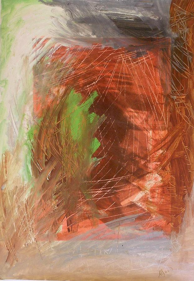 Abstract Painting - Red October by Chris Alford