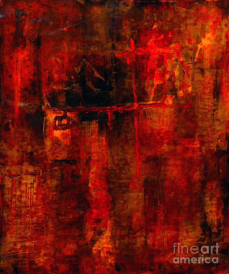 Abstract Painting Painting - Red Odyssey by Pat Saunders-White