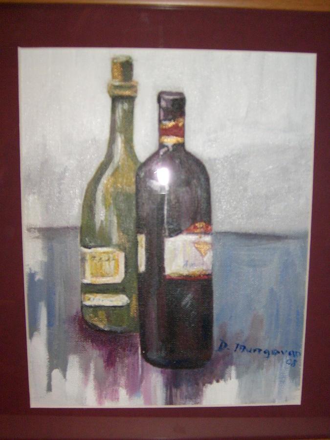 Wine Bottles Painting - Red Or White by Deirdre McNamara