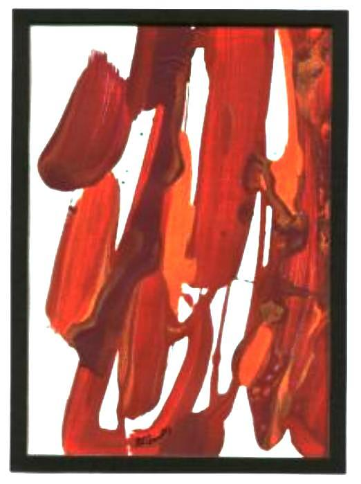 Color Painting - Red-orange  by B L Qualls