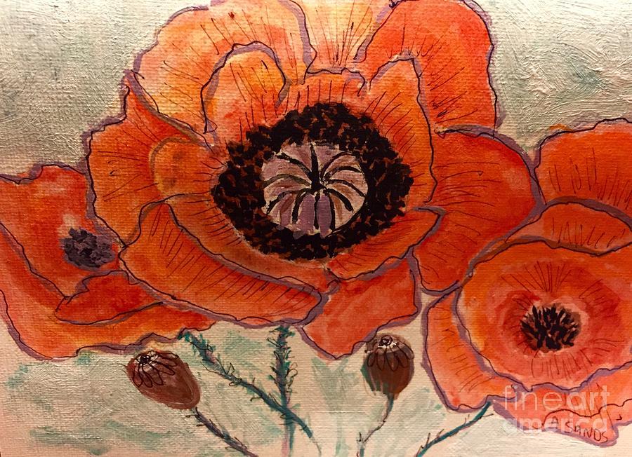 Oriental Poppy! Painting