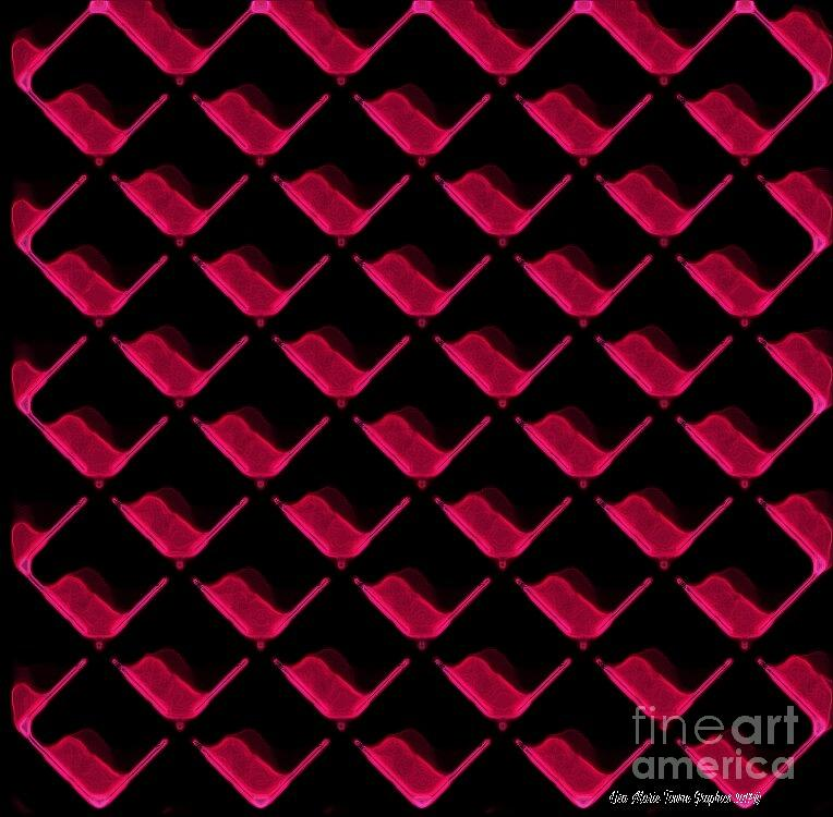 Red Ortho Digital Art by Lisa Marie Towne