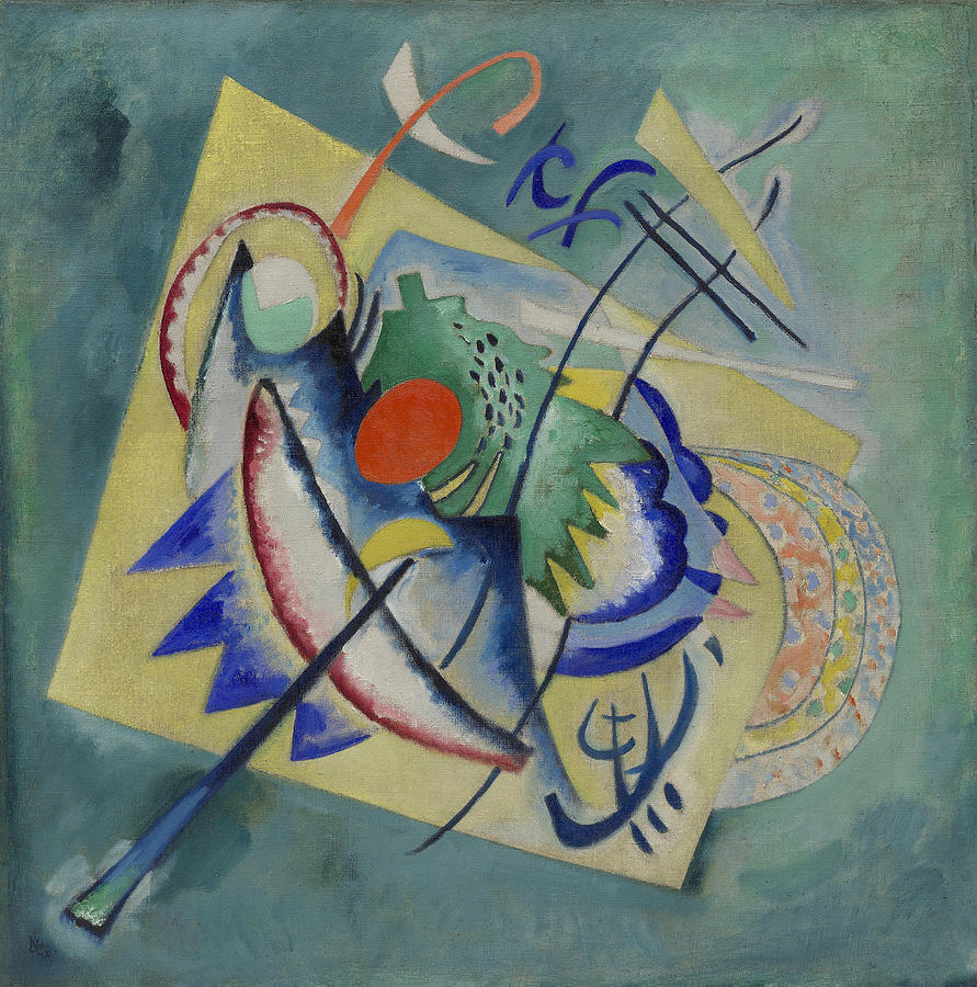 Background Painting - Red Oval By Vassily Kandinsky by Vassily Kandinsky