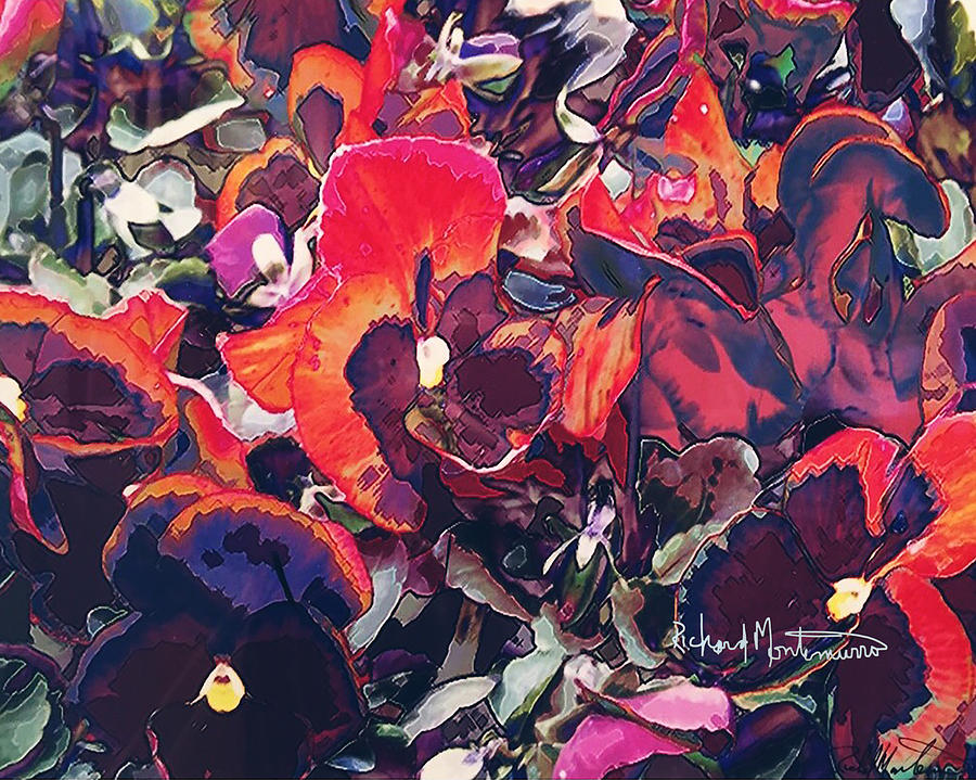 Red Pansies by Richard  Montemurro