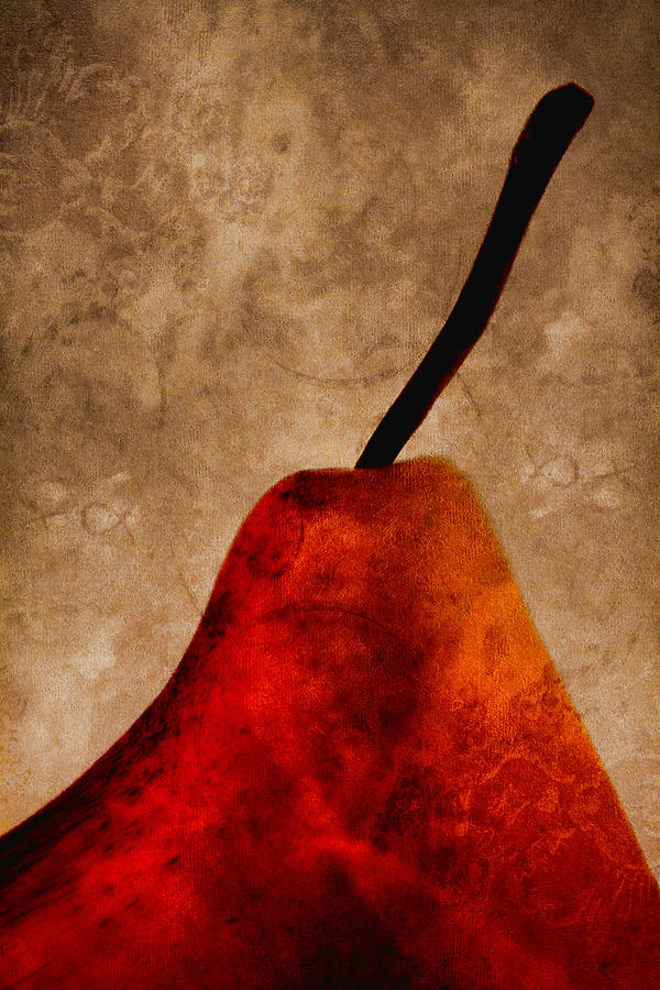Pear Photograph - Red Pear IIi by Carol Leigh