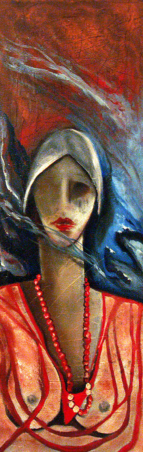 Red Pearls Painting by Niki Sands