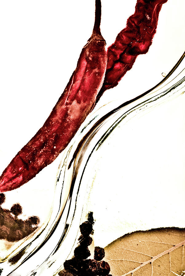 Red Pepper And Bay Leaf Photograph