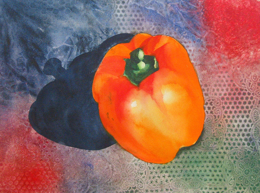 Pepper Painting - Red Pepper Solo by Jean Blackmer