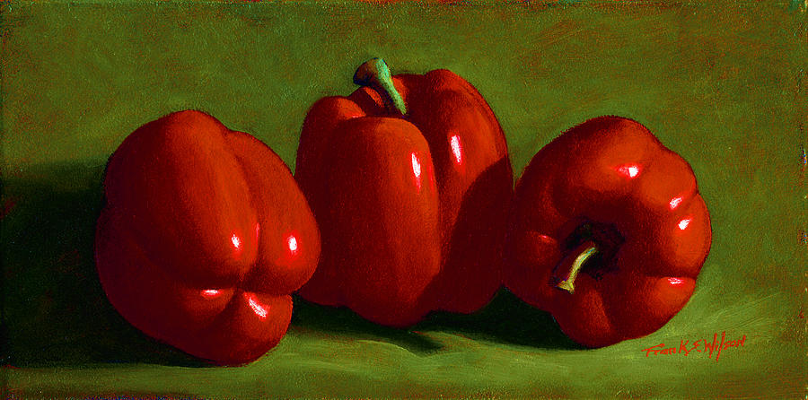 Red Peppers Painting - Red Peppers by Frank Wilson