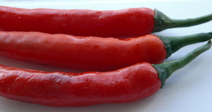 Island Photograph - Red Peppers by Tropical Ties Dominica