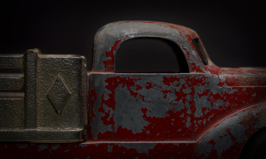 Red Truck Photograph - Red Pickup - Detail by Art Whitton