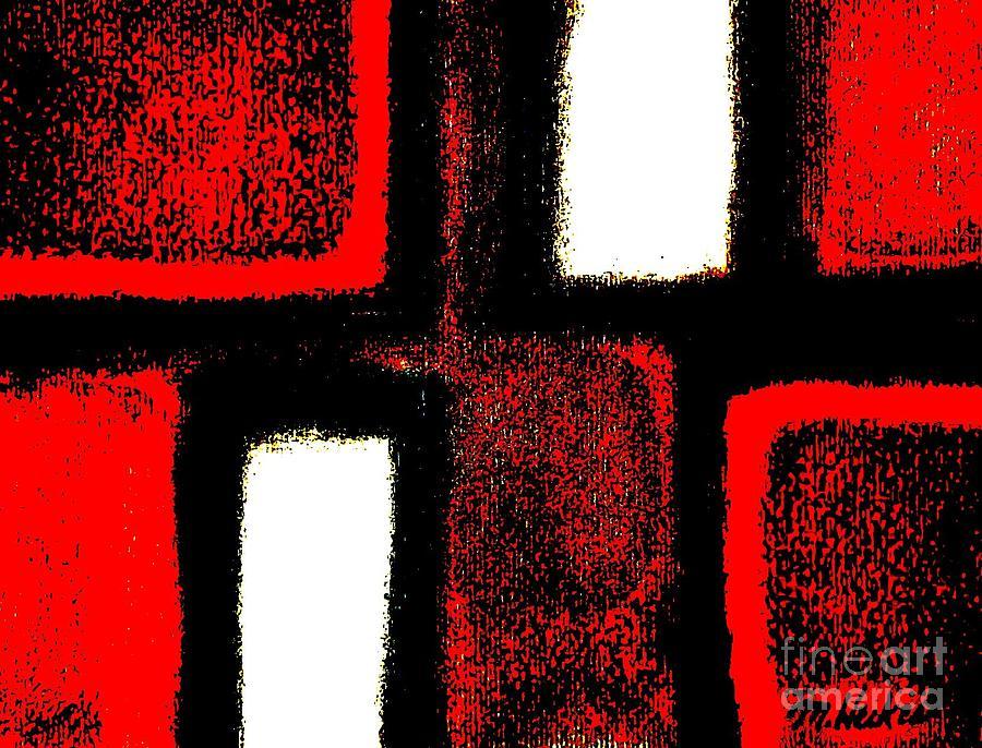 Pastels Digital Art - Red Plaid by Marsha Heiken