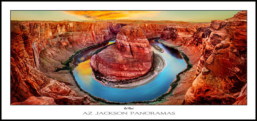 Horseshoe Bend Photograph - Red Planet Panorama Poster Print by Az Jackson