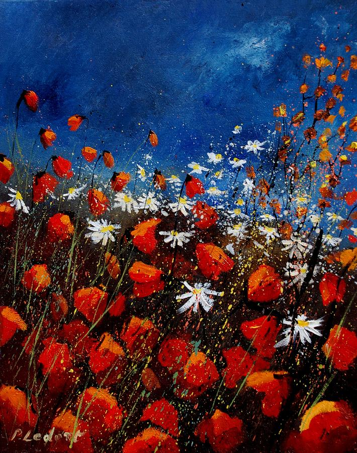 Flowers Painting - Red Poppies 451108 by Pol Ledent