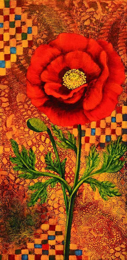 Poppy Painting - Red Poppy 1 by Lynn Lawson Pajunen