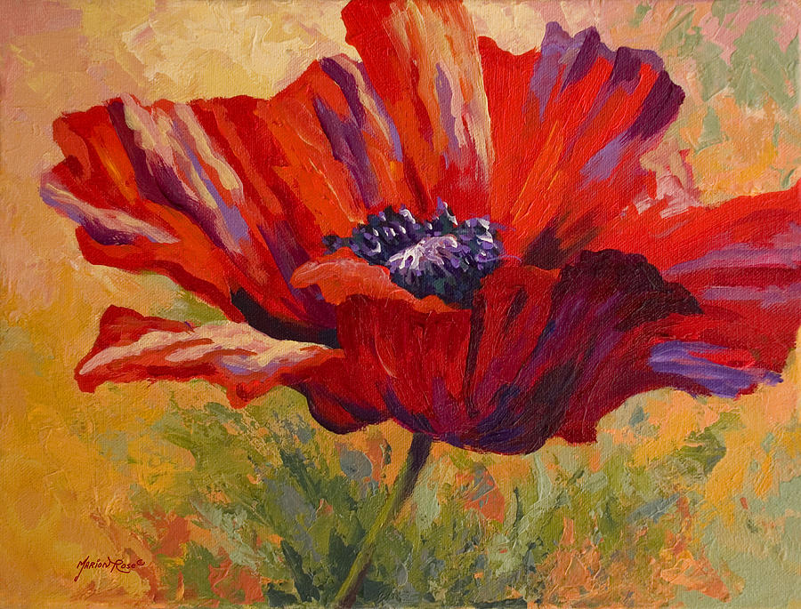 Poppies Painting - Red Poppy II by Marion Rose