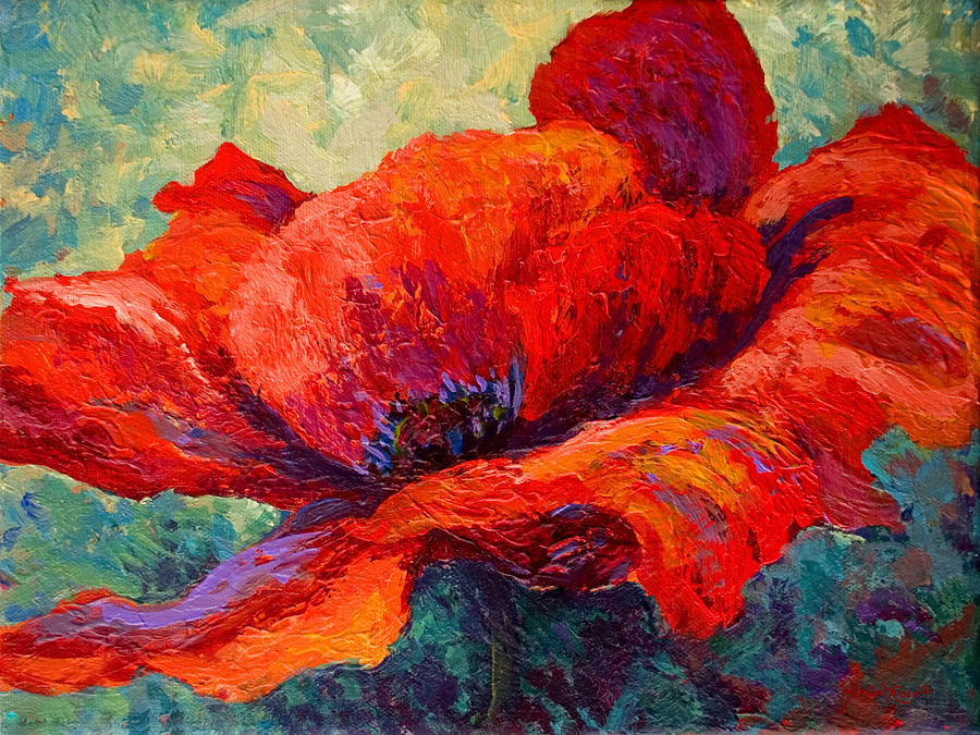 Poppies Painting - Red Poppy IIi by Marion Rose